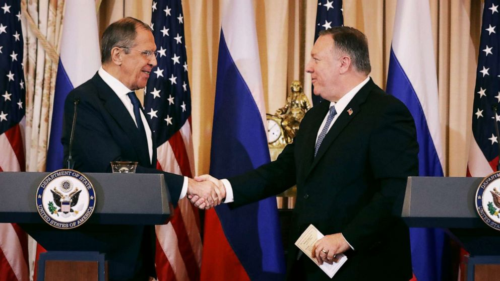 Secretary Mike Pompeo says he warned Russia's foreign minister that election meddling is 'unacceptable'