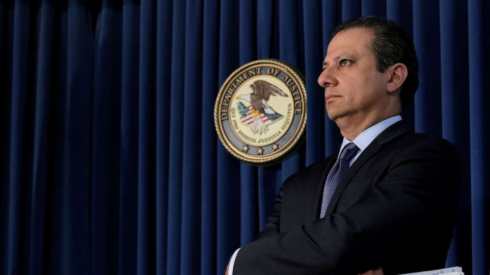 Preet Bharara attends a news conference in New York City in this May 19, 2016 file photo.