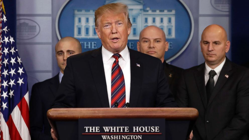 President Donald Trump speaks in the press briefing room at the White House, Jan. 3, 2019, in Washington.
