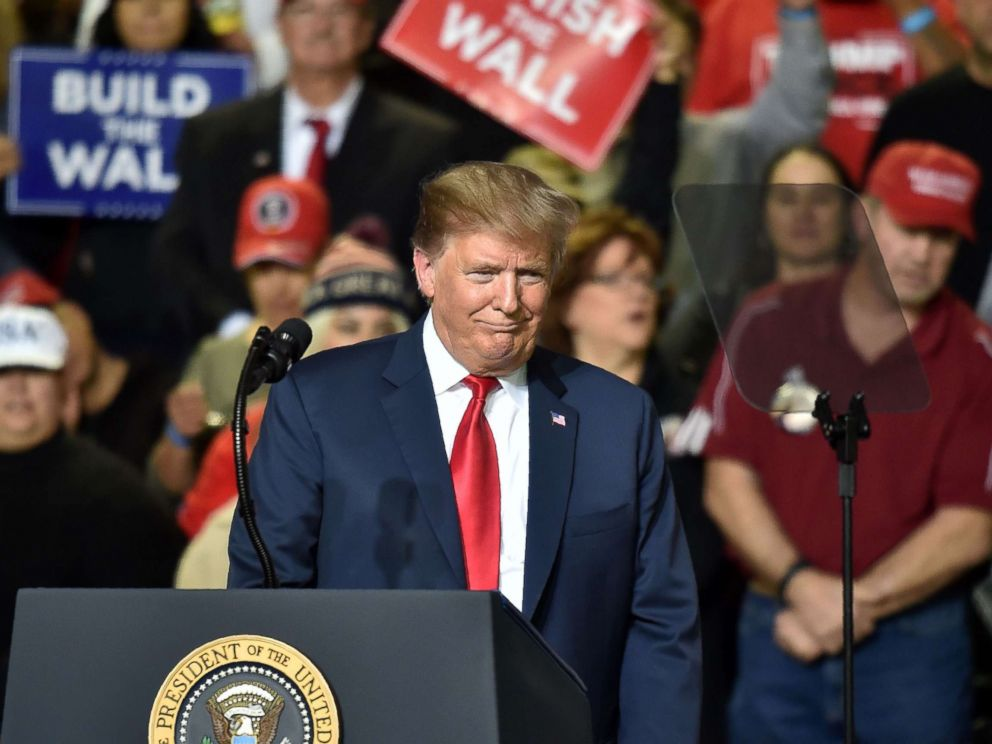 PHOTO: President Donald Trump speaks during a rally in El Paso, Texas, Feb. 11, 2019.