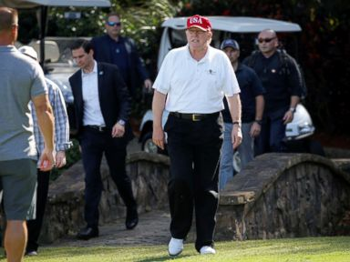 President Trump's visits to the golf course outpace Barack Obama's