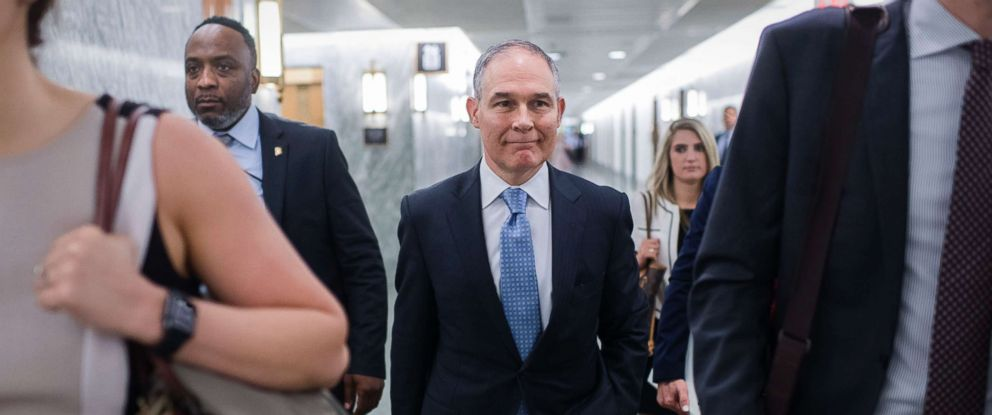 PHOTO: Environmental Protection Agency Administrator Scott Pruitt Arrives  To Testify During A Senate Appropriations Interior