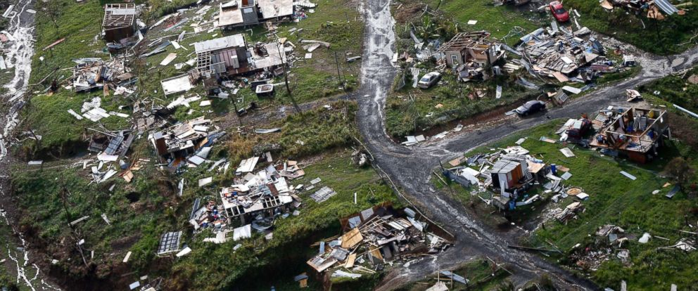 PHOTO: Destroyed communities are seen in the aftermath of Hurricane Maria in Toa Alta, Puerto Rico, Sept. 28, 2017.