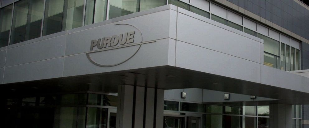 PHOTO: The offices of Purdue Pharma, the pharmaceutical company that makes the painkiller, OxyContin., July 26, 2001, in Stamford, Conn.