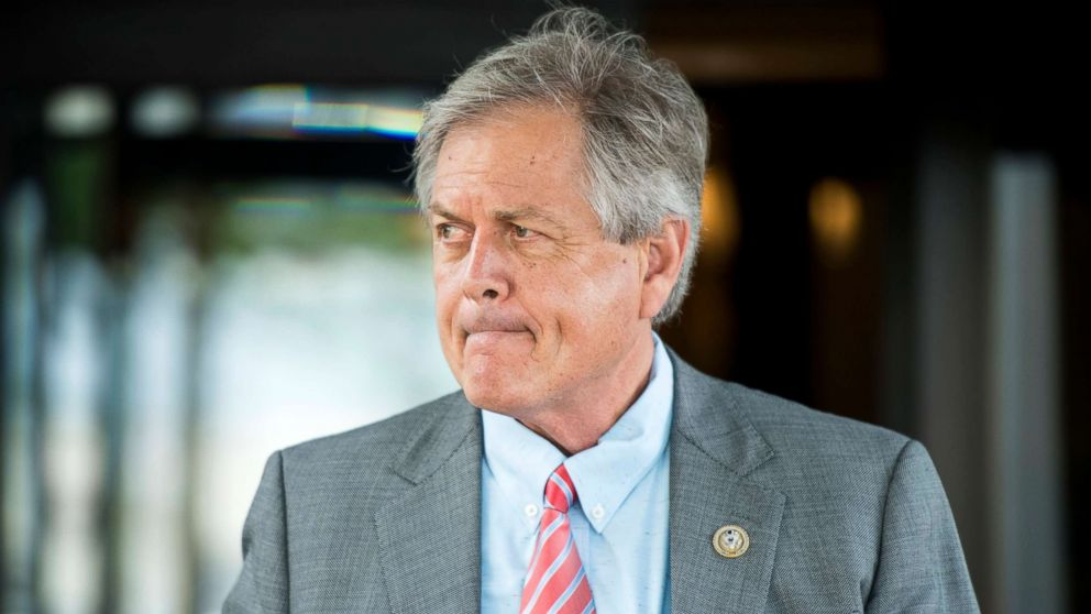 Rep. Ralph Norman leaves the House Republican Conference meeting at the Capitol Hill Club in Washington, June 13, 2018.