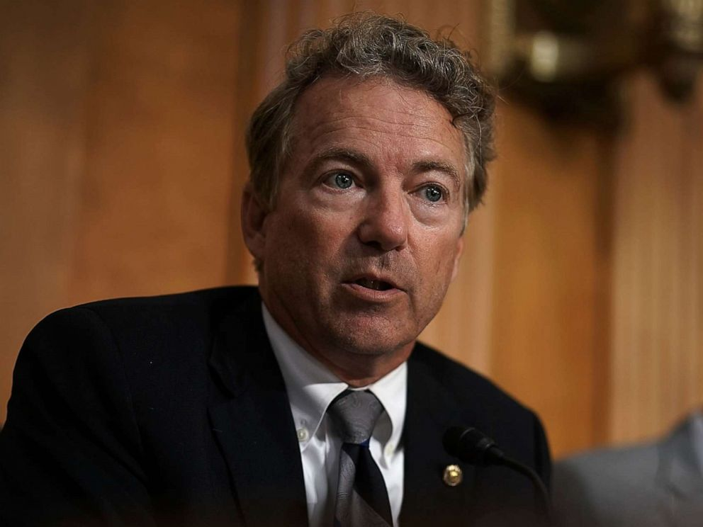 PHOTO:Sen. Rand Paul (R-KY) speaks during a hearing before Senate Foreign Relations Committee. July 25, 2018, on Capitol Hill.
