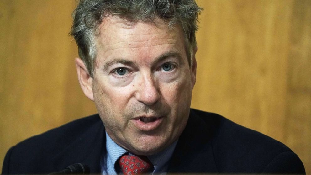 Sen. Rand Paul speaks during a Senate Foreign Relations Committee meeting April 23, 2018 on Capitol Hill in Washington.