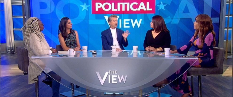 """PHOTO: Senator Rand Paul appears on ABCs """"The View,"""" Oct. 11, 2019."""