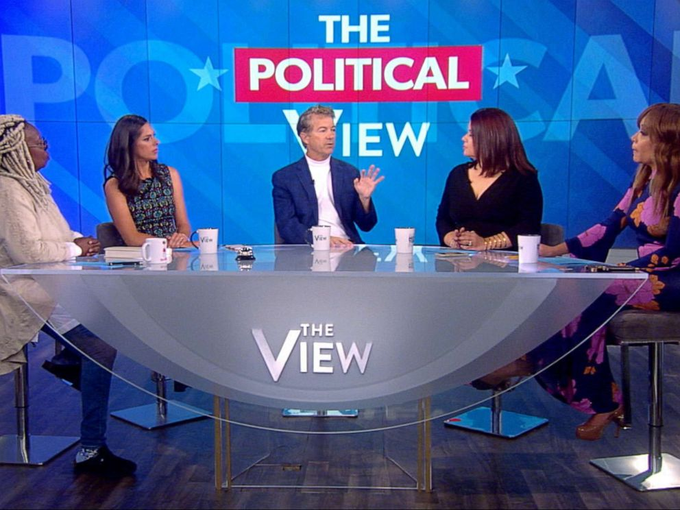PHOTO: Senator Rand Paul appears on ABCs The View, Oct. 11, 2019.