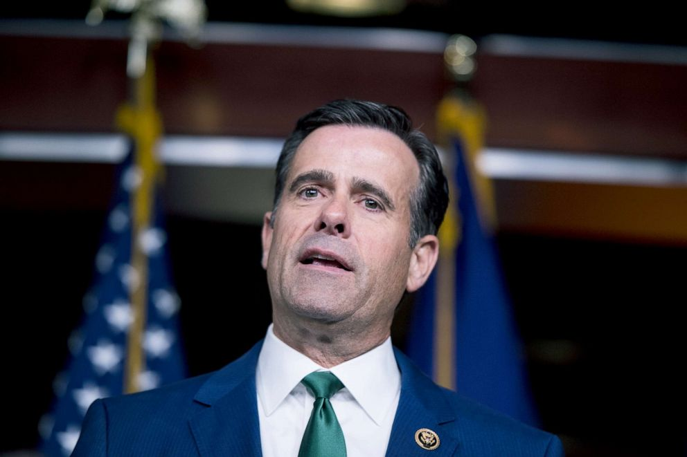 PHOTO: Rep. John Ratcliffe speaks during the House GOP post-caucus press conference on the Capitol, March 26, 2019.