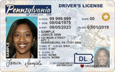 PHOTO: Real ID drivers license.