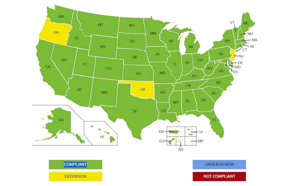 PHOTO: Current status of Real ID by state.