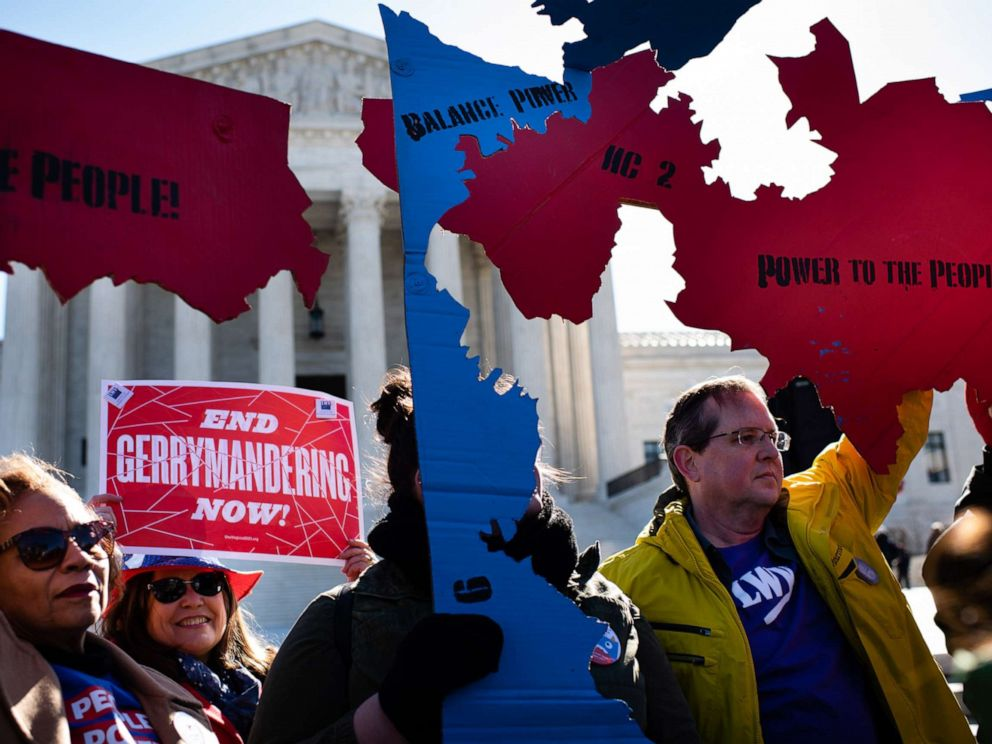 PHOTO: A Fair Maps Rally was held in front of the U.S. Supreme Court on March 26, 2019, in Washington, D.C.