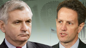 Sen. Jack Reed, D-RI and Geithner