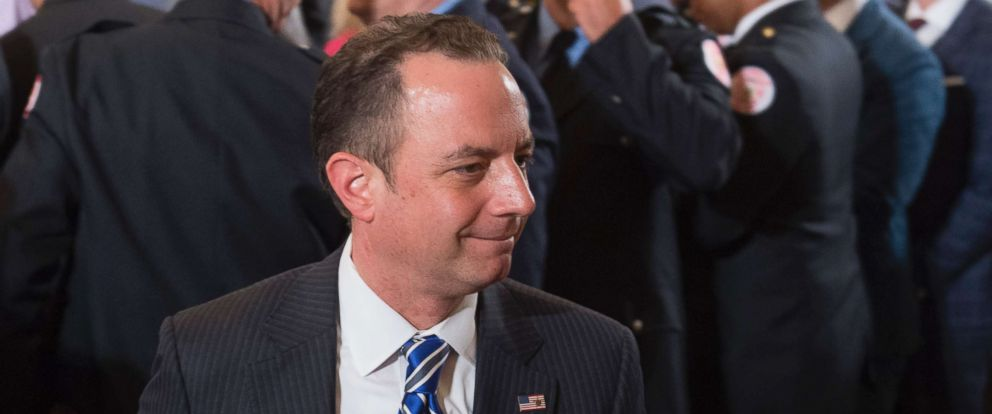 PHOTO: White House Chief of Staff Reince Priebus arrives for an event in the East Room of the White House in Washington, July 27, 2017.