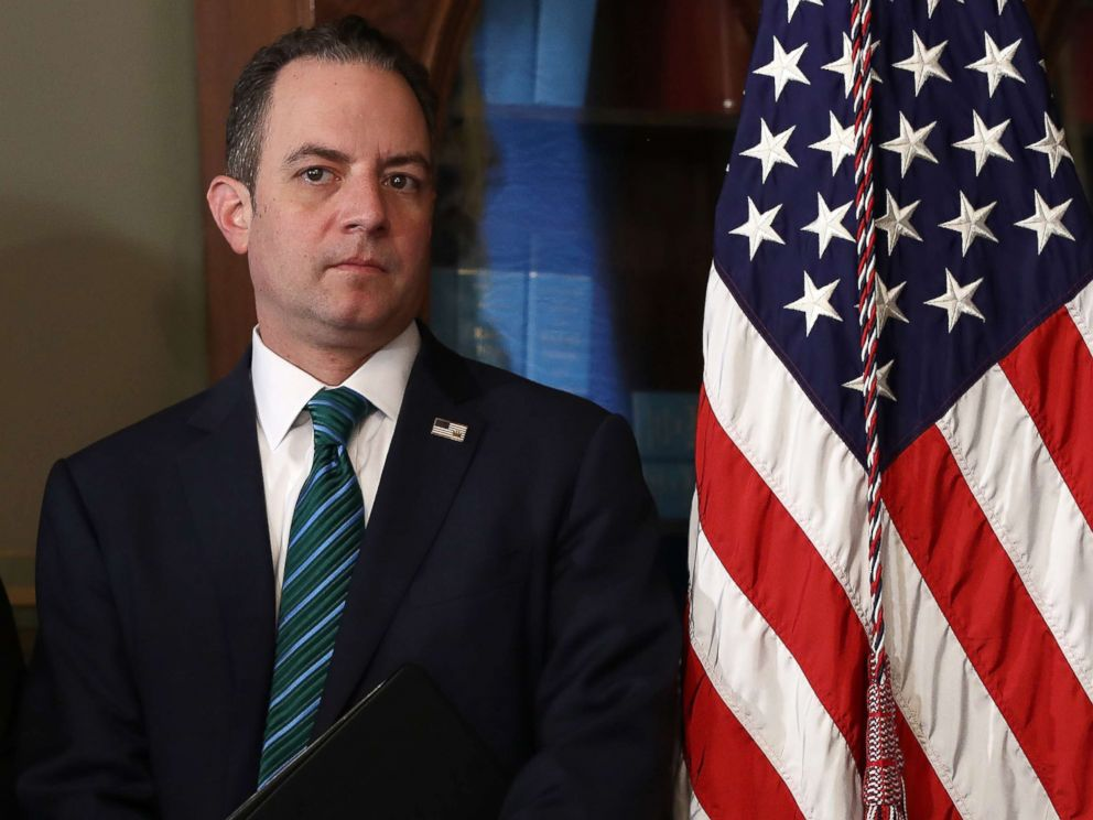 PHOTO: White House Chief of Staff Reince Priebus attends the swearing in ceremony for Nikki Haley as the U.S. Ambassador to the United Nations, Jan. 25, 2017 in Washington, D.C.