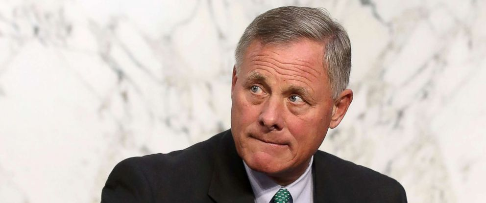 PHOTO: Richard Burr attends a Senate Intelligence Committee hearing on Capitol Hill, Aug. 1, 2018, in Washington, DC.