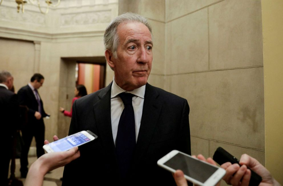 PHOTO: House Ways and Means Committee Chairman Richard Neal discusses his request to IRS Commissioner Charles Rettig for copies of President Donald Trumps tax returns as he talks to reporters at the U.S. Capitol in Washington, April 4, 2019.