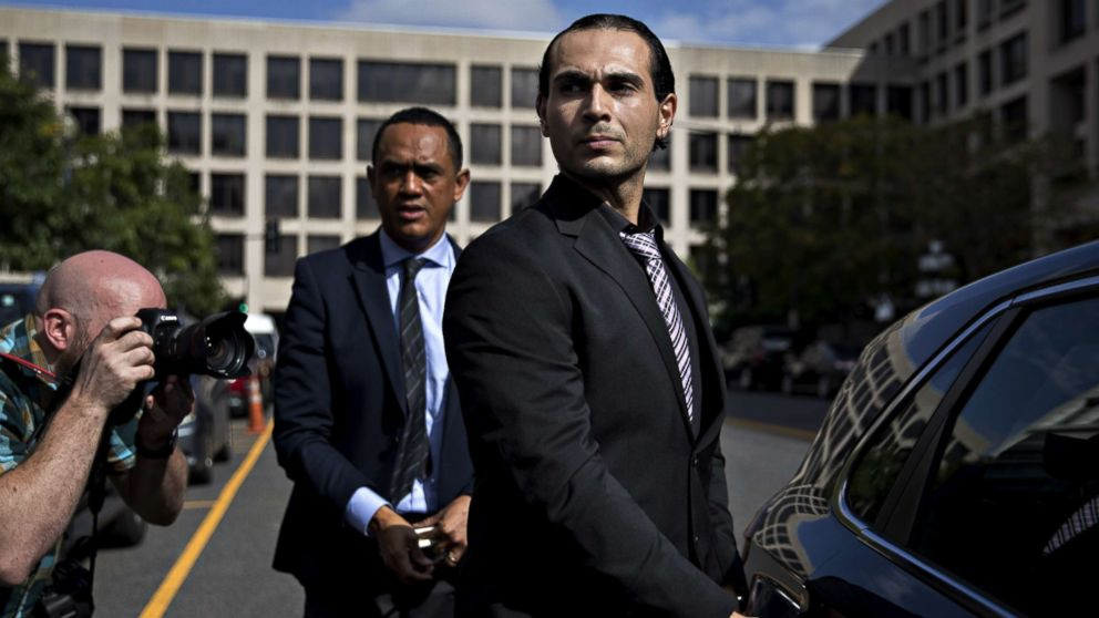 Richard Pinedo of Santa Paula, Calif., gets into a vehicle outside federal court after sentencing in Washington, D.C., Oct. 10, 2018.