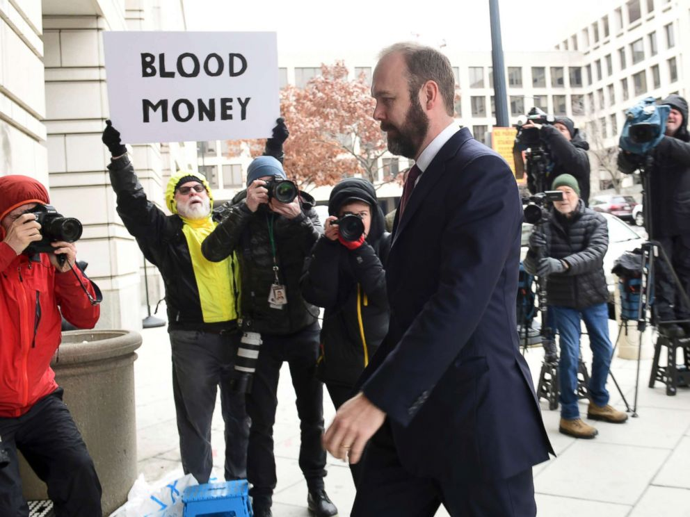 PHOTO: Rick Gates arrives at federal court in Washington, Feb. 23, 2018.