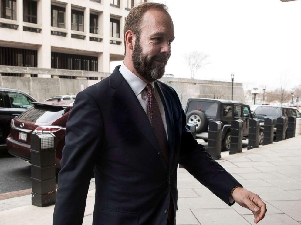 PHOTO: Rick Gates arrives at the Federal Courthouse in Washington, Feb. 23, 2018.
