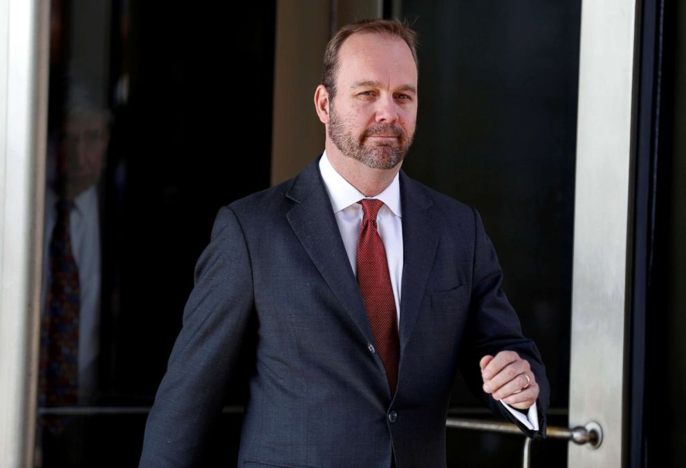 PHOTO: Rick Gates, former campaign aide to President Donald Trump, departs after a hearing at U.S. District Court in Washington, DC, Dec. 11, 2017.