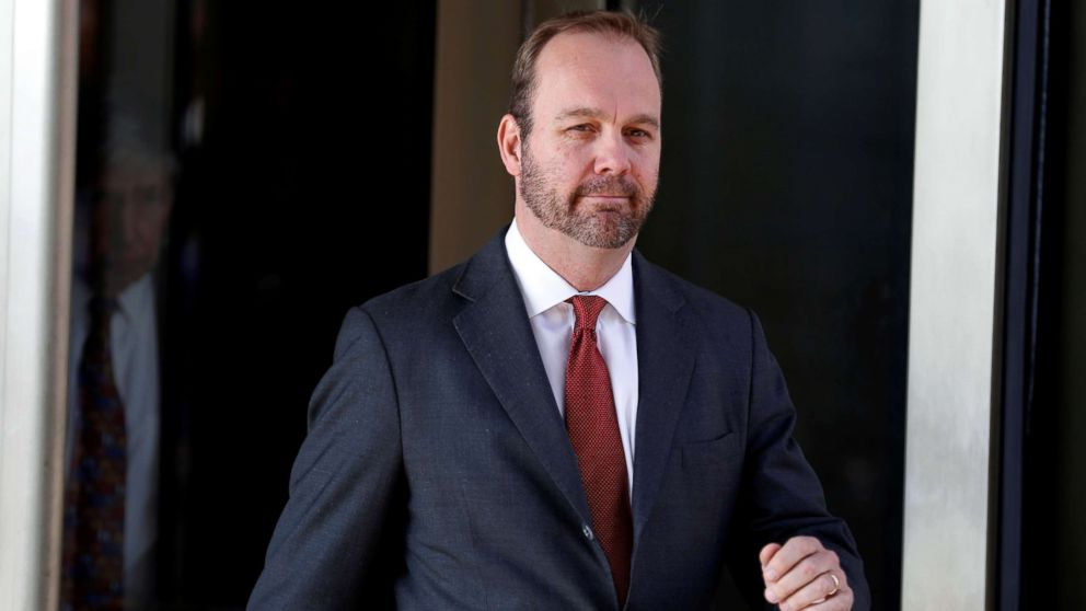 Rick Gates, former campaign aide to President Donald Trump, departs after a hearing at U.S. District Court in Washington, DC, December 11, 2017.