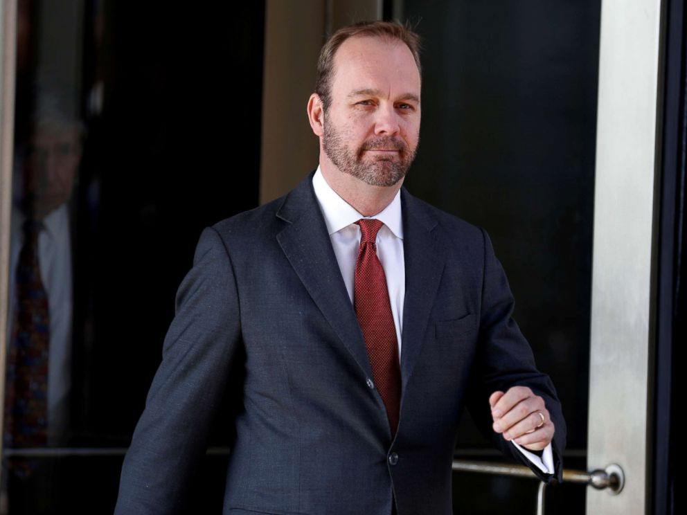 PHOTO: Rick Gates, former campaign aide to President Donald Trump, departs after a hearing at U.S. District Court in Washington, D.C, Dec. 11, 2017.