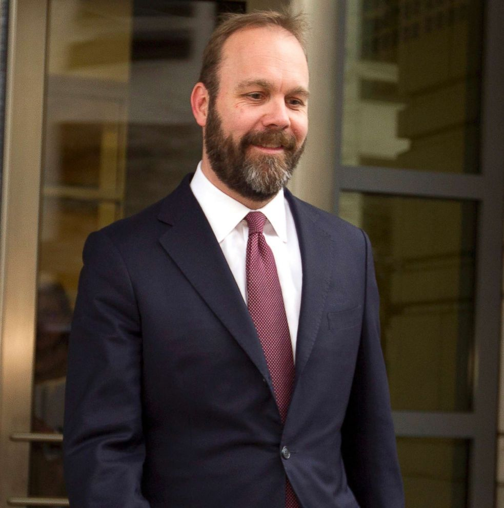 PHOTO: Rick Gates leaves federal court in Washington, Feb. 23, 2018.