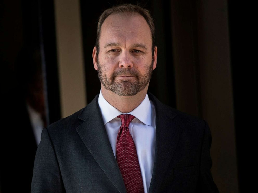 PHOTO: Former Trump campaign official Rick Gates leaves Federal Court in Washington, D.C., Dec. 11, 2017.