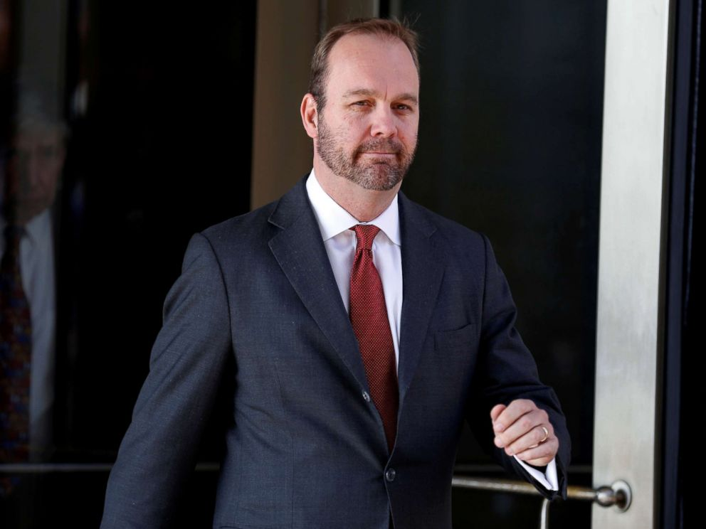 PHOTO: Rick Gates, former campaign aide to President Donald Trump, departs after a bond hearing at U.S. District Court in Washington, D.C., Dec. 11, 2017.