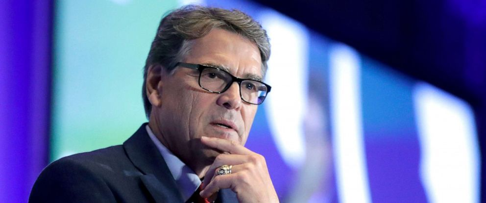 PHOTO: Energy Secretary Rick Perry speaks at the California GOP fall convention in Indian Wells, Calif., Sept. 6, 2019.