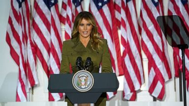Rnc 2020 Day 2 Melania Trump Headlines From Rose Garden Pompeo Spoke From Overseas Trip Abc News