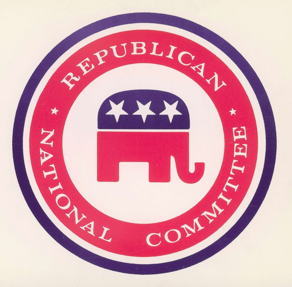 Logo of the Republican National Committee, featuring an elephant, the traditional mascot of the party.