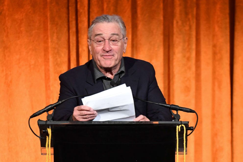PHOTO: Robert De Niro speaks onstage during the National Board of Review annual awards gala at Cipriani 42nd St, Jan. 9, 2018, in New York City.