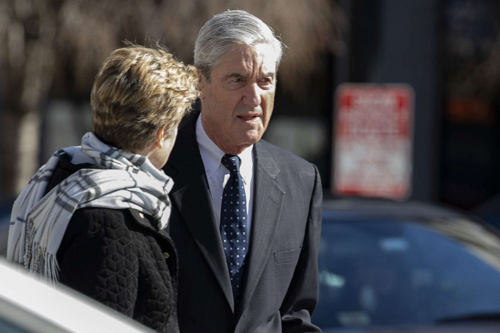 Special Counsel Robert Mueller walks in Washington on March 24, 2019.