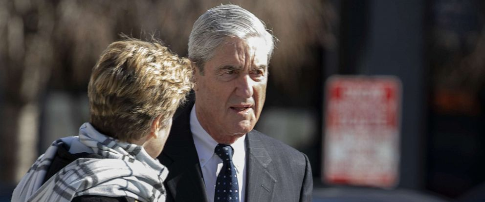 PHOTO: Special Counsel Robert Mueller walks in Washington on March 24, 2019.