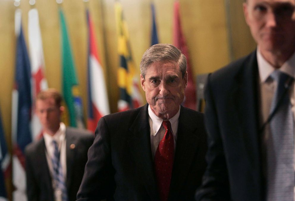 PHOTO: FBI Director Robert Mueller leaves a news conference at FBI headquarters in Washington, March 9, 2007.