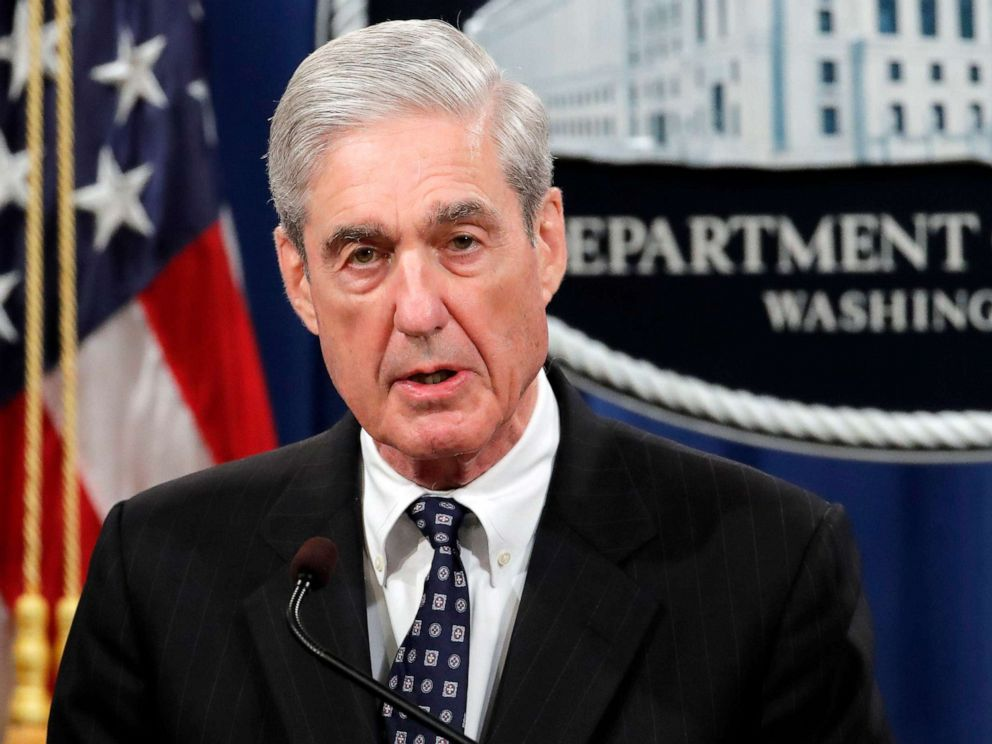 PHOTO: Special counsel Robert Mueller speaks at the Department of Justice, May 29, 2019, in Washington, about the Russia investigation.