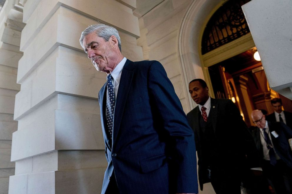Former FBI Director Robert Mueller, the special counsel probing Russian interference in the 2016 election, departs Capitol Hill following a closed door meeting, June 21, 2017.