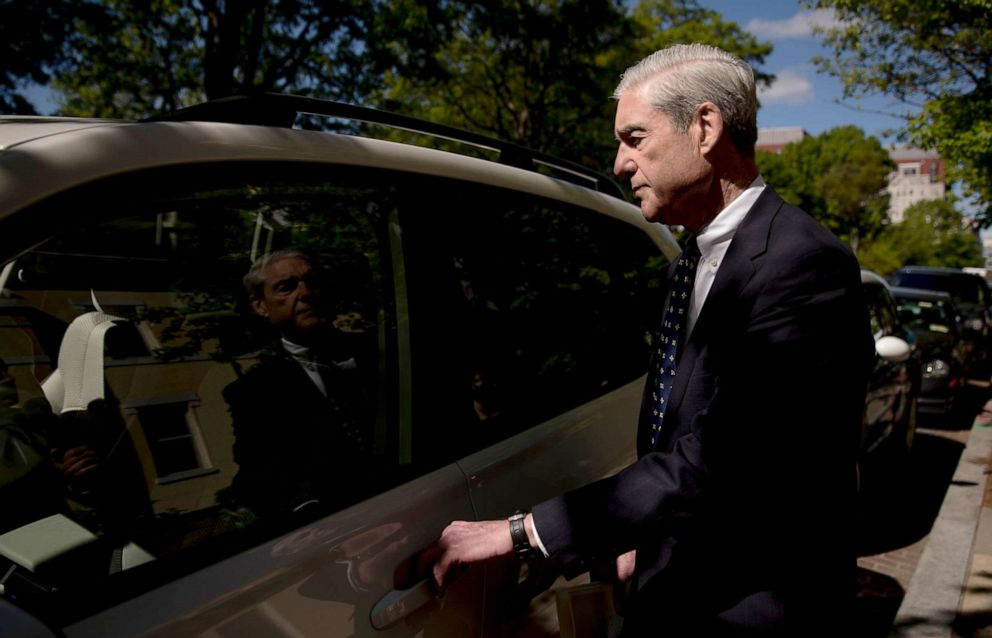 PHOTO: Special Counsel Robert Mueller departs Easter services at St. Johns Episcopal Church, April 21, 2019, in Washington, D.C.