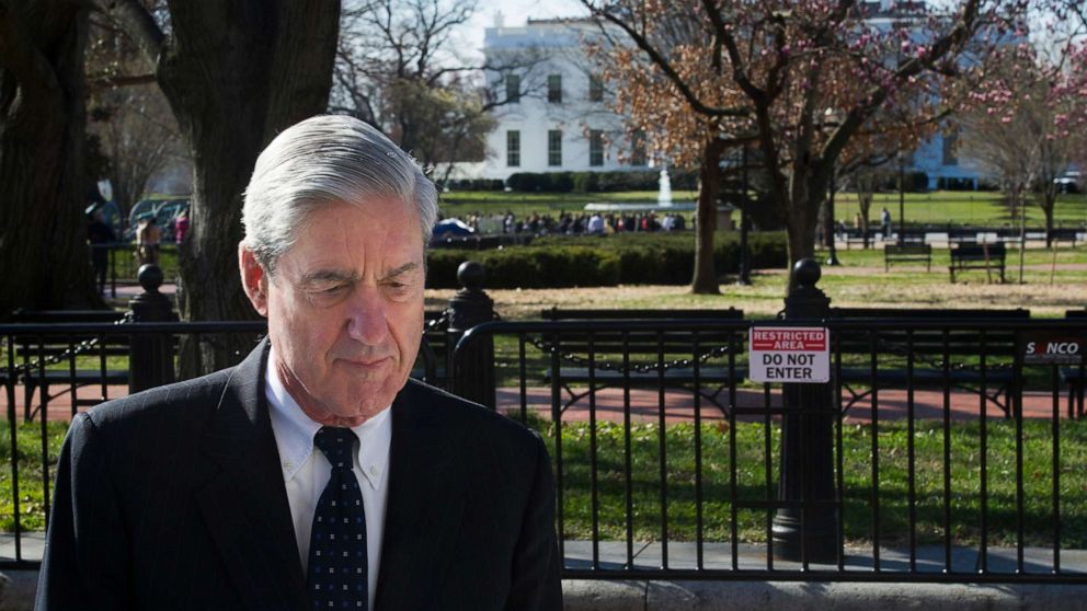 Special Counsel Robert Mueller walks past the White House after attending services at St. John's Episcopal Church, in Washington, March 24, 2019.