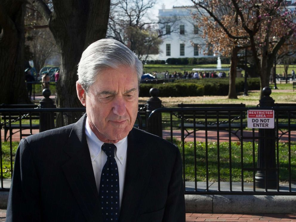 PHOTO: Special Counsel Robert Mueller walks past the White House after attending services at St. Johns Episcopal Church, in Washington, March 24, 2019.