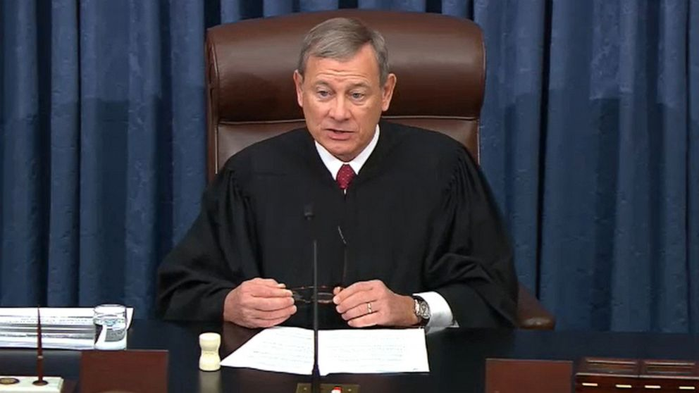 In 2nd Trump impeachment trial, will Chief Justice John Roberts preside?