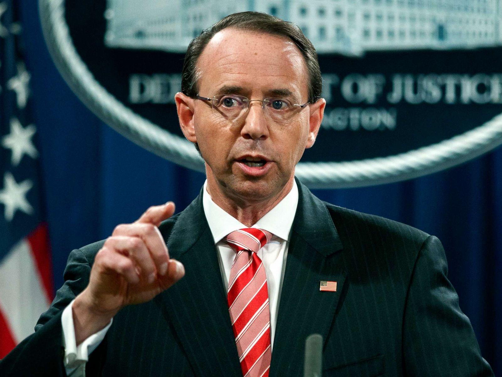 Rosenstein Letter To Trump.Deputy Attorney General Rod Rosenstein Submits Resignation
