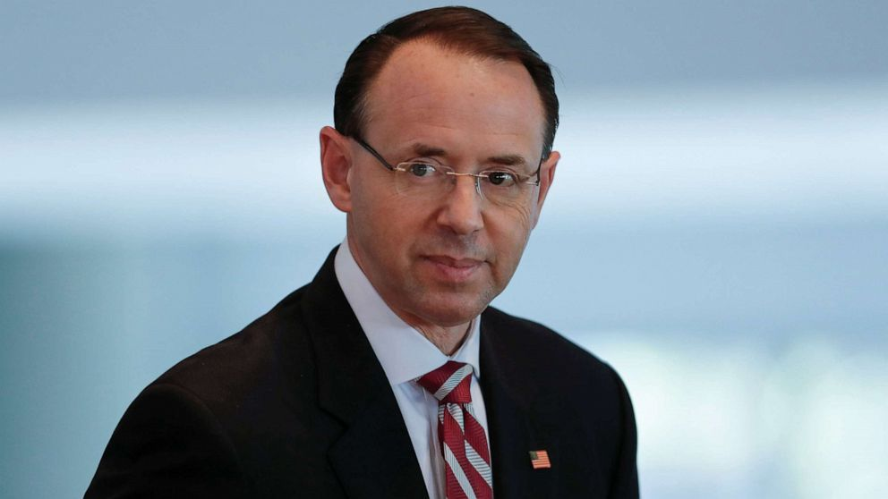 Rod Rosenstein defends Russia investigation handling, hits back at James Comey thumbnail