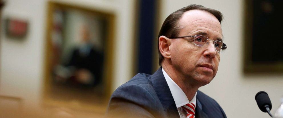 PHOTO: Deputy U.S. Attorney General Rod Rosenstein testifies to the House Judiciary Committee hearing on oversight of the Justice Department on Capitol Hill in Washington, D.C., Dec.r 13, 2017.