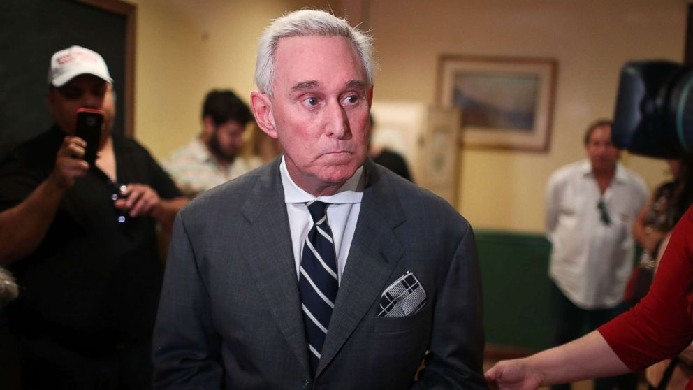 Roger Stone, a longtime political adviser and friend to President Donald Trump, speaks during a visit to the Women's Republican Club of Miami, May 22, 2017, in Coral Gables, Florida.