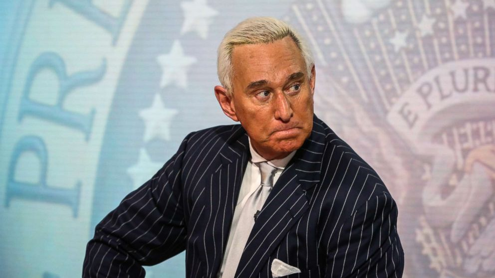 Roger Stone, former adviser to Donald Trump's presidential campaign, listens during a Bloomberg Television interview in New York, May 12, 2017.