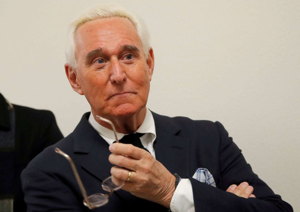 Political operative Roger Stone attends a House Judiciary Committee hearing in Washington, Dec. 11, 2018.